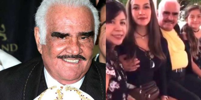 Video | Vicente Fernandez de freco con una fan le agararra un seno