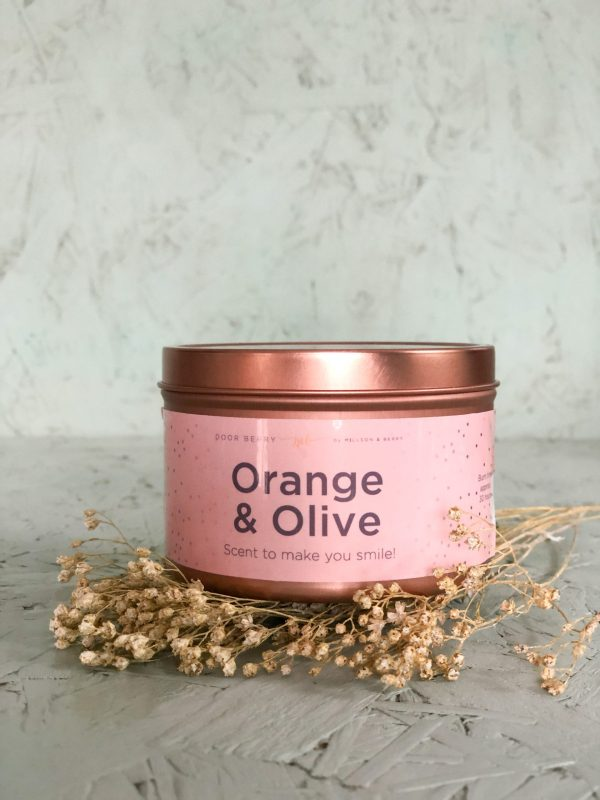 Olive & Orange Soy Wax Candle