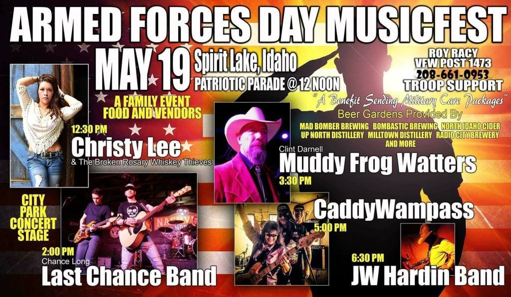 Armed Forces Day Musicfest, Craft Cocktails, Beer & Cider @ Spirit Lake City Park | Spirit Lake | Idaho | United States