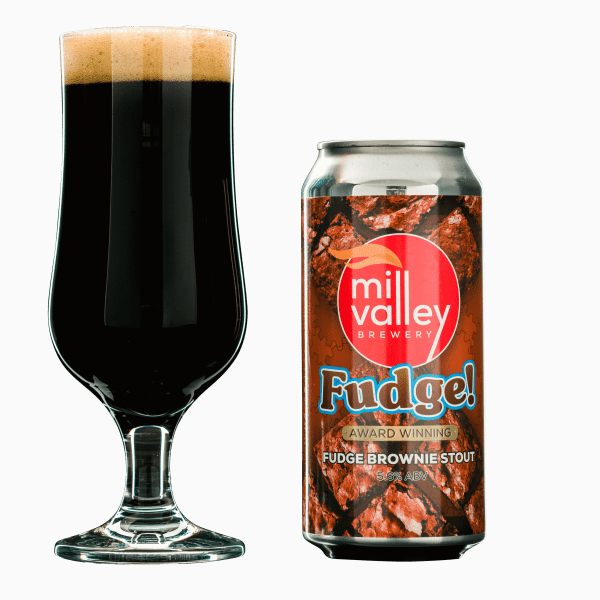 Fudge in Glass With Can