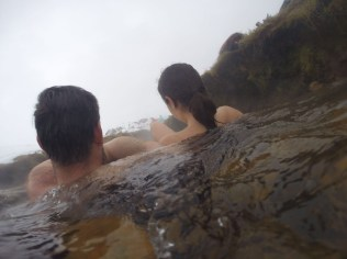 Bathing in the thermal river