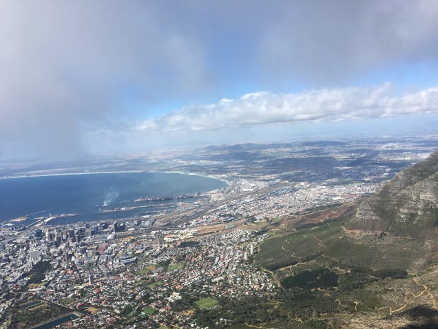 View from Table Mountain over Cape Town