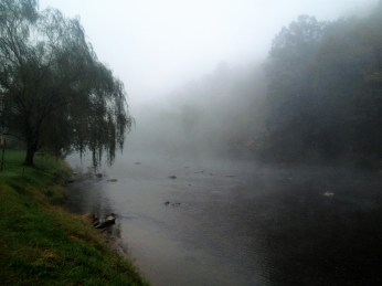 Misty river to the South…