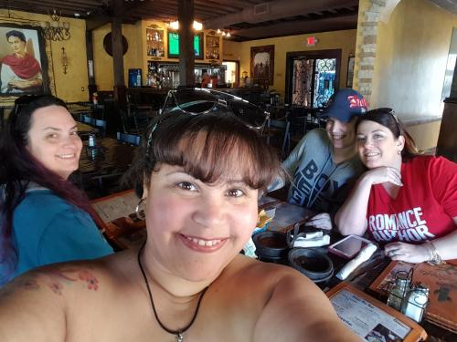 TNEE: Me, Bianca Sommerland and Julie Morgan with reader Lisa