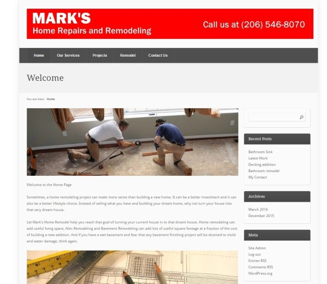 Markshomeremodel.com-Website Design