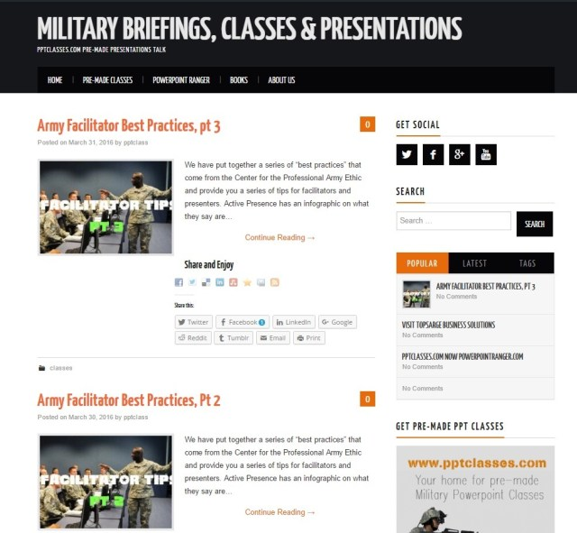 military briefings blog
