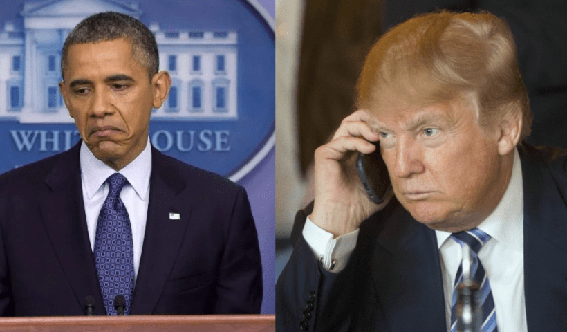 Trump declares that he's going after Obama admin