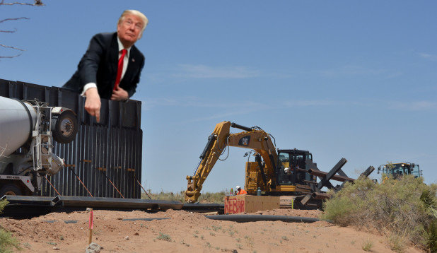 To everyone saying that Trumps border wall isn't being built