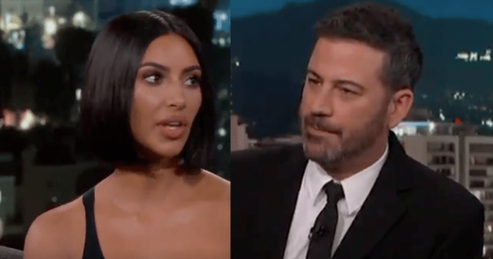 Kim Kardashian on Jimmy Kimmel