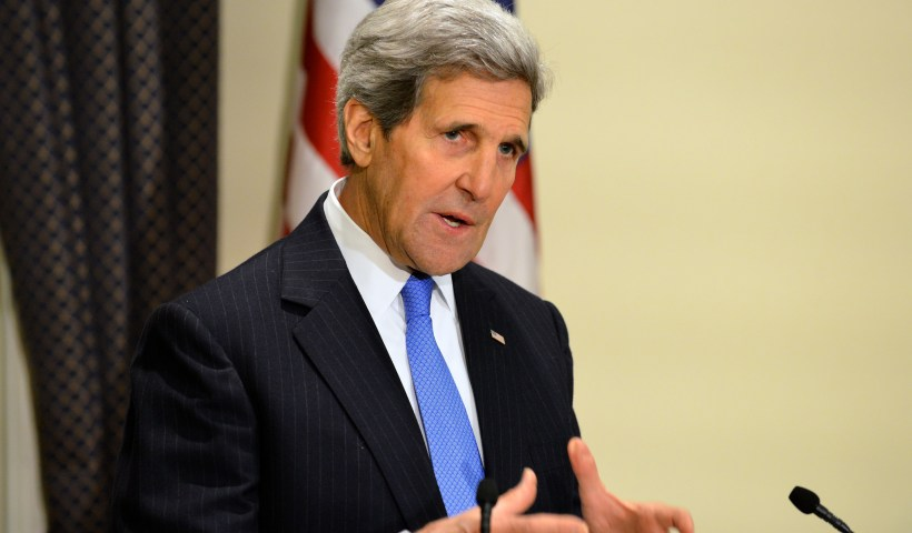 John Kerry could be suited for the first successful prosecution of the Logan Act of 1799