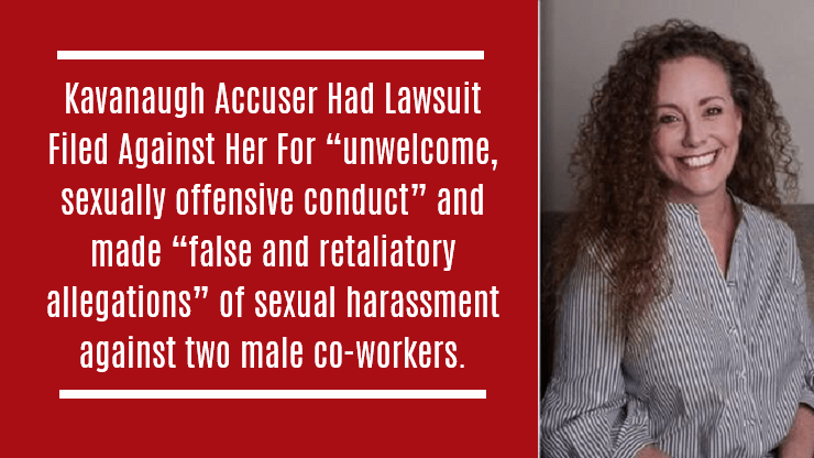 """Kavanaugh Accuser Had Lawsuit Filed Against Her For """"unwelcome, sexually offensive conduct"""""""