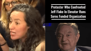 Protester Who Confronted Jeff Flake In Elevator Runs Soros Funded Organization