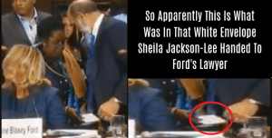 So Apparently This Is What Was In That White Envelope Sheila Jackson-Lee Handed To Ford's Lawyer