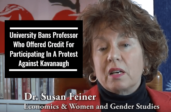 University Bans Professor Who Offered Credit For Participating In A Protest Against Kavanaugh
