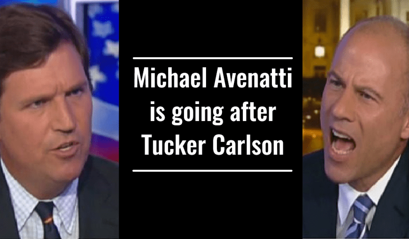 Michael Avenatti is going after Tucker Carlson