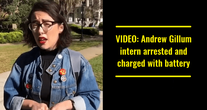 VIDEO Andrew Gillum intern arrested and charged with battery