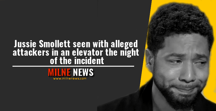 Jussie Smollett seen with alleged attackers in an elevator the night of the incident