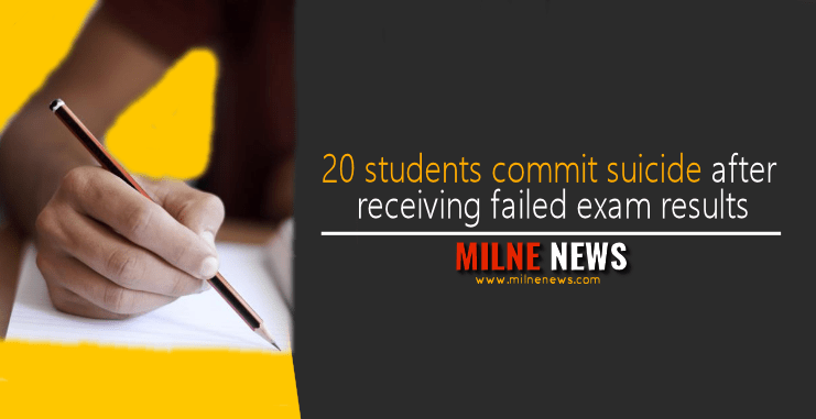 20 students commit suicide after receiving failed exam results