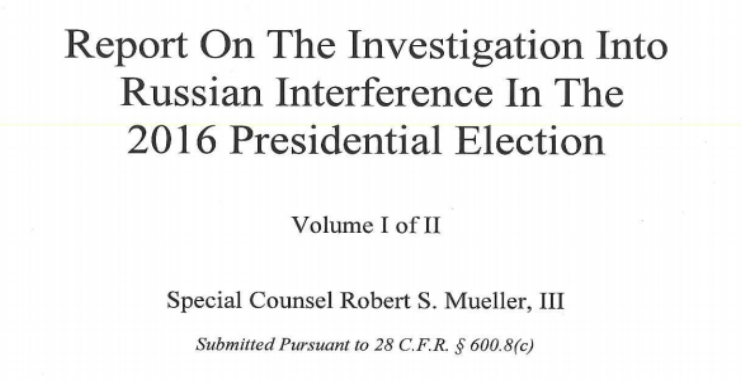 Read Special Counsel Robert Mueller's Full Report
