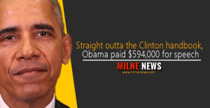 Straight outta the Clinton handbook, Obama paid $594,000 for speech
