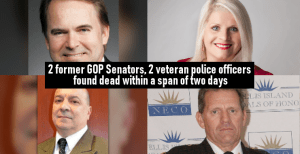 2 former GOP Senators, 2 veteran police officers found dead within a span of two days
