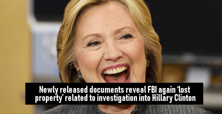 Newly released documents reveal FBIagain 'lost property' related to investigation into Hillary Clinton