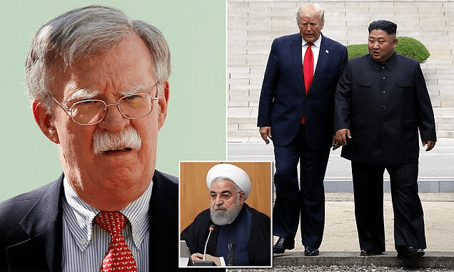 John Bolton hits out President Trump during a private lunch