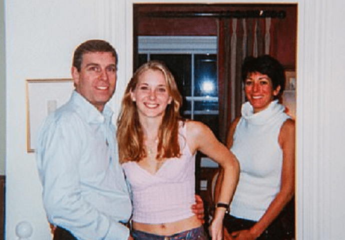 Full uncropped photograph of Prince Andrew with 17-year-old Virginia Roberts released