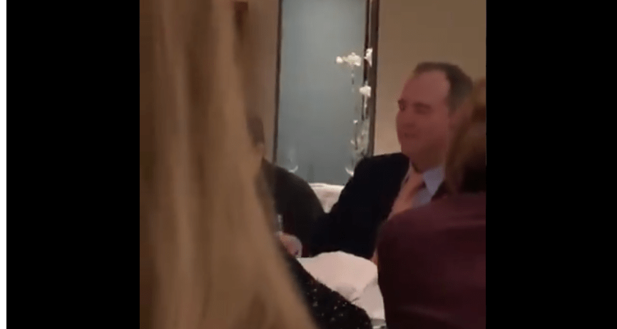 Adam Schiff and Dems seen drinking and cheering about impeachment the night before the vote