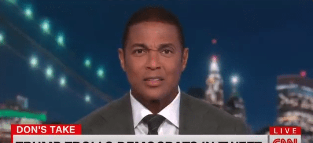 CNN's Don Lemon is a sad little man that gets upset over Trump memes