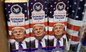 Leftists triggered by Donald Trump candy bars, but forget Obama had the same thing