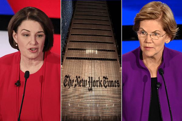 New York Times editorial board endorses Warren and Klobuchar for Democratic nomination
