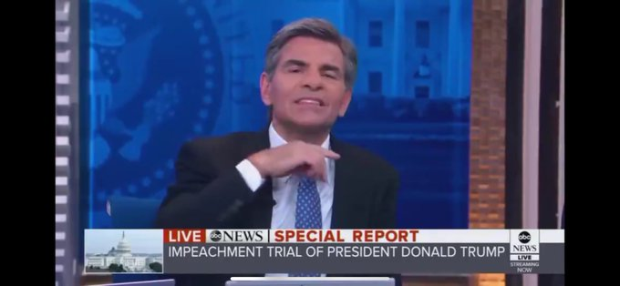 VIDEO George Stephanopoulos caught on camera signaling ABC Studio to cut-off Trump's defense attorney
