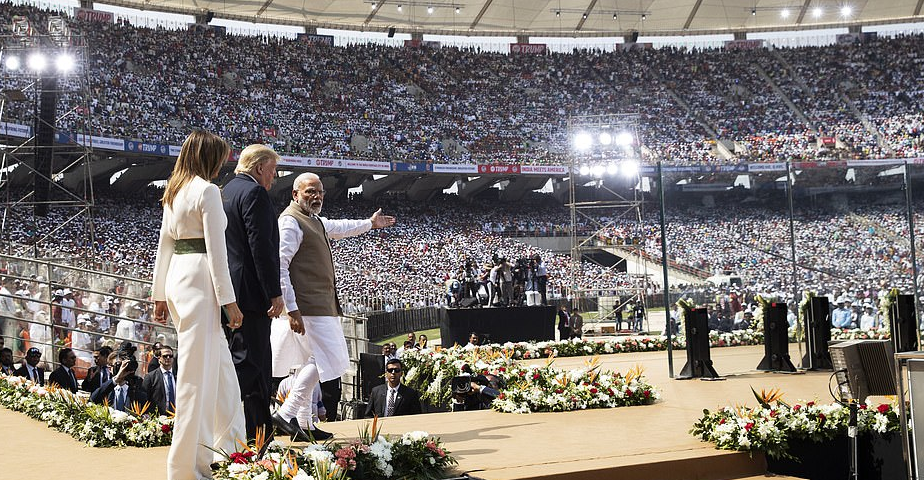 110,000 People Pack Stadium to See President Trump and First Lady Melania In India