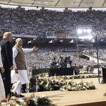 110,000 People Pack Stadium to See President Trump and FLOTUS In India