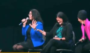 Rashida Tlaib boos Hillary Clinton at Bernie Sanders Iowa event