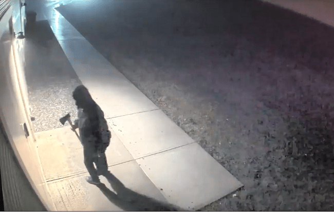 VIDEO: Man caught on camera using an Ax to Break Into Military Museum in Connecticut