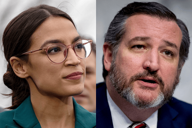 Ocasio-Cortez and Ted Cruz Find Common Ground On Response To Coronavirus
