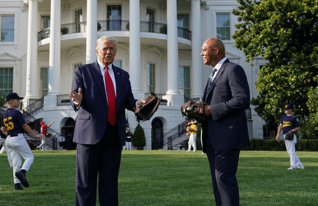 President Trump and Yankees Legend Mariano Rivera Host Little Leaguers at White House