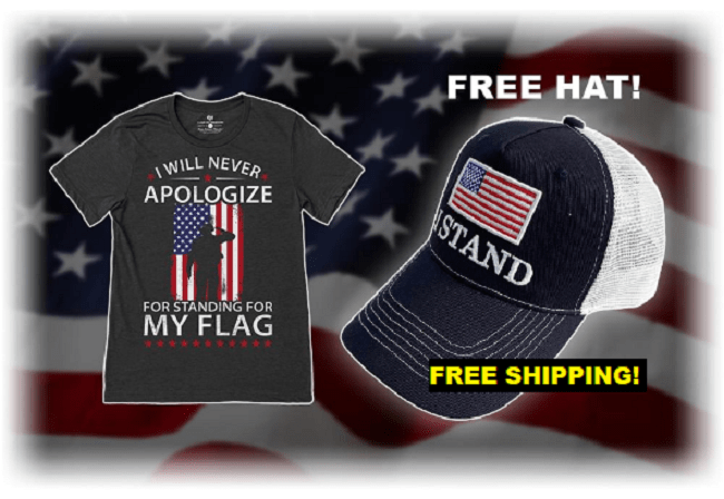 "Receive A FREE ""I Stand"" Hat With Every T-Shirt Ordered!"