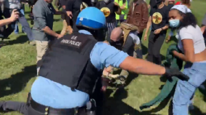 BLM Clash With Police At Pro-Trump Rally, Multiple Arrests Made