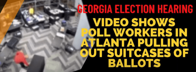 Video Shows Poll Workers In Atlanta Pulling Out Suitcases Of Ballots