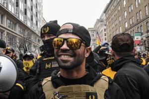 Proud Boys leader arrested for burning Black Lives Matter banner