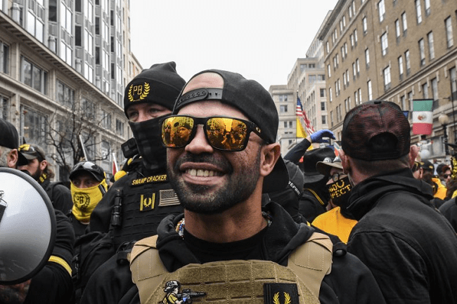 Proud Boys leader arrested for burning Black Lives Matter banner