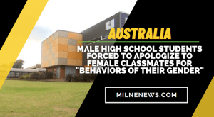 """Male High School Students Forced To Apologize To Female Classmates For """"Behaviors Of Their Gender"""""""