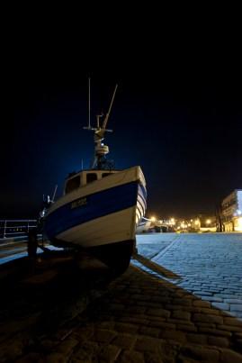 14 Filey at Night : Filey Fishermen