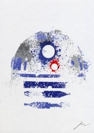 Star Wars Paint Splattered R2 D2