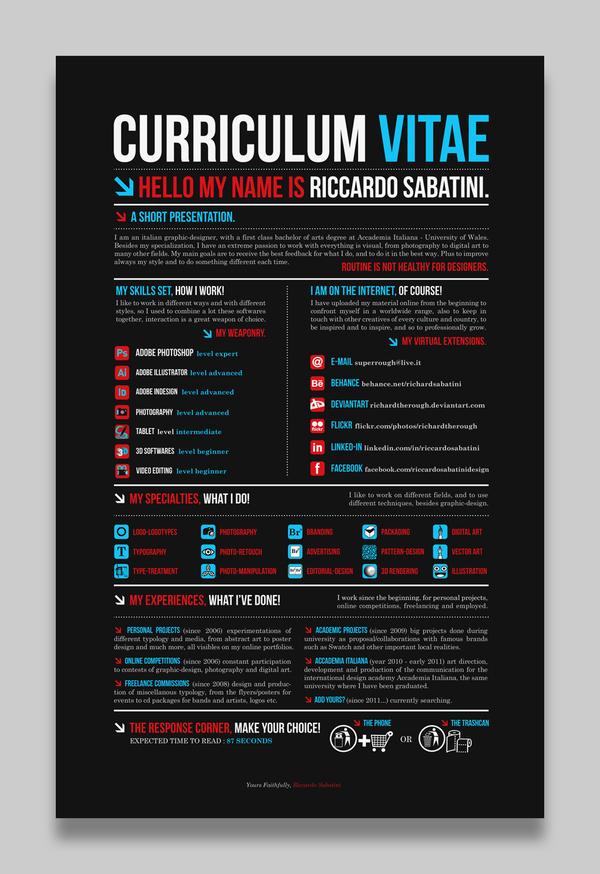 creative cv resume design milners blog