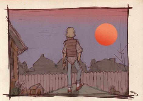 Luke and The Binary Sunset