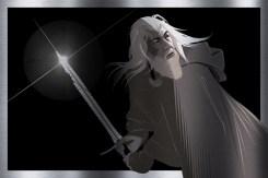 Gandalf on Brushed Aluminium